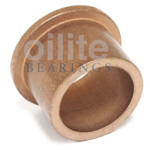 AL081206 Flanged Metric Oilite Bearing